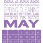 Op de agenda voor mei