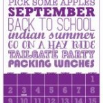 Op de agenda voor september