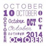 Op de agenda voor oktober