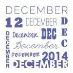 Op de agenda voor december